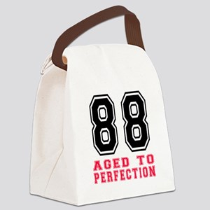 88 Aged To Perfection Birthday De Canvas Lunch Bag
