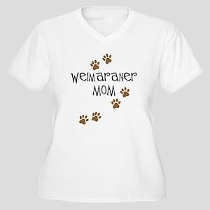 Weimaraner Mom Women's Plus Size V-Neck T-Shirt