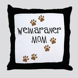 Weimaraner Mom Throw Pillow