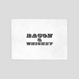 Bacon & Whiskey 5'x7'Area Rug