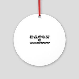 Bacon & Whiskey Ornament (Round)