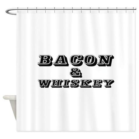 Bacon U0026 Whiskey Shower Curtain