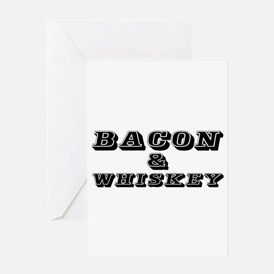 Bacon & Whiskey Greeting Cards