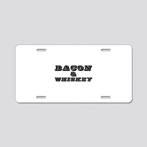 Bacon & Whiskey Aluminum License Plate