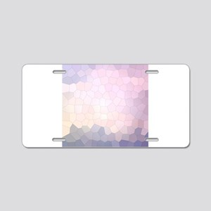 Crystalized Mosaic Pattern Aluminum License Plate