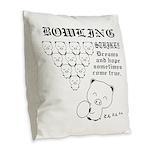 bowling_bootan_egao_1500x Burlap Throw Pillow