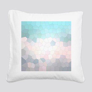 Crystalized Mosaic Pattern Square Canvas Pillow