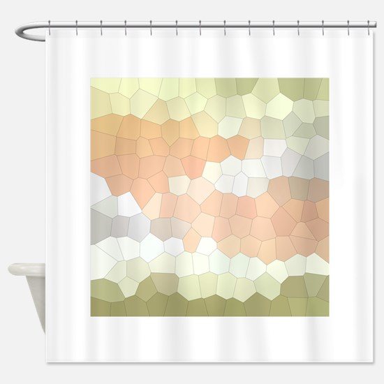 Crystalized Mosaic Pattern Shower Curtain