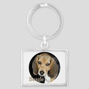 Close Up Puppy Beagle Landscape Keychain Keychains