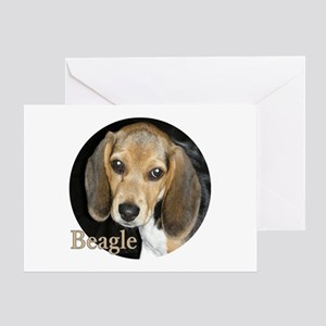 Close Up Puppy Beagle Card Greeting Cards
