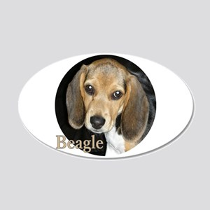 Close Up Puppy Beagle 20x12 Oval Wall Decal