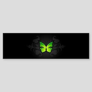 Elegant Green Butterfly Bumper Sticker