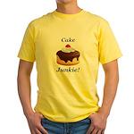 Cake Junkie Yellow T-Shirt