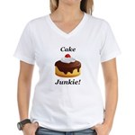 Cake Junkie Women's V-Neck T-Shirt