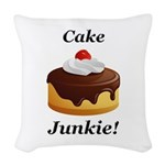 Cake Junkie Woven Throw Pillow