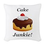 Cake Junkie Woven Throw Pillow
