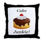 Cake Junkie Throw Pillow