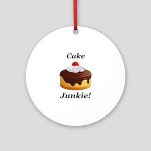 Cake Junkie Ornament (Round)