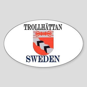 The Trollhättan Store Oval Sticker