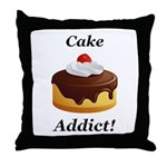 Cake Addict Throw Pillow
