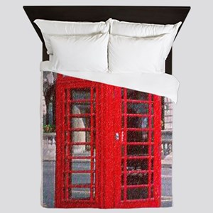 phoneboothpuzzle Queen Duvet