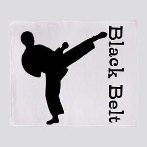 Martial Arts Black Belt Throw Blanket