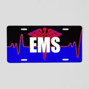 Ems Heartbeat Aluminum License Plate