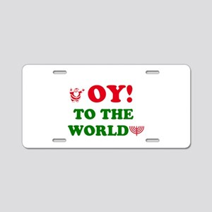 oytoworld1 Aluminum License Plate