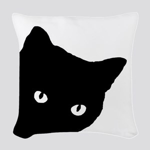 Meow Woven Throw Pillow