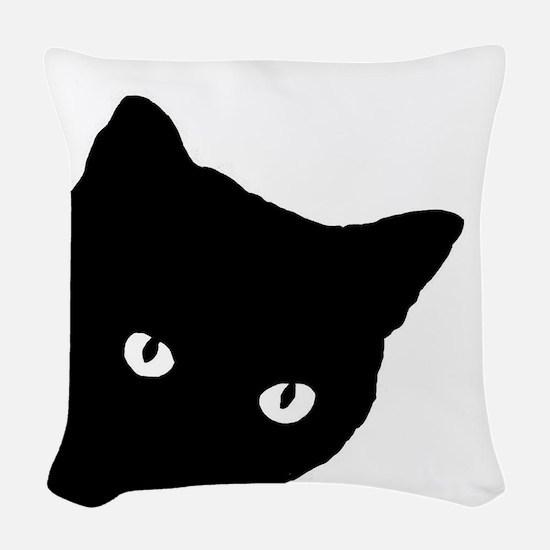 Meow Woven Throw Pillow