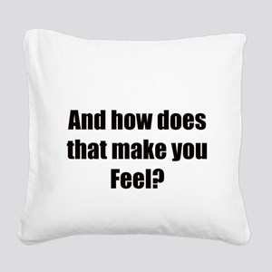therapy Square Canvas Pillow