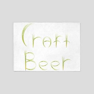 Wheat Craft Beer 5'x7'Area Rug