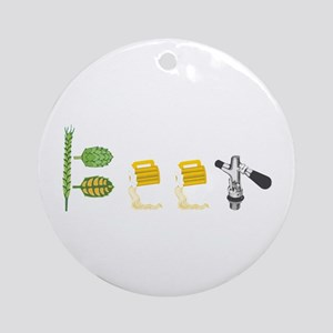 Beer Ornament (Round)