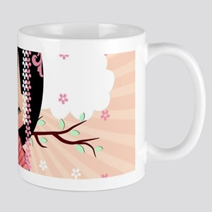 Dream Kokeshi Doll In Pink Mug Mugs