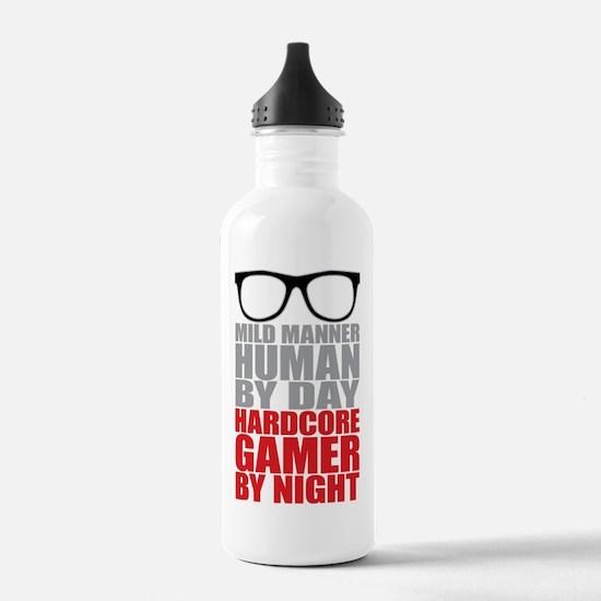 Human to Hardcore Game Water Bottle