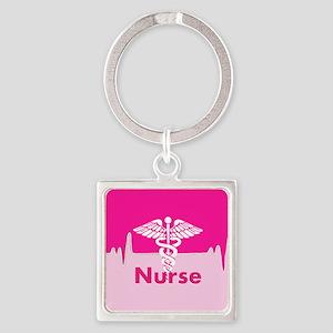 Nurse Pink Heartbeat Keychains