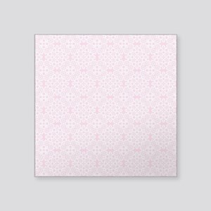 "Carnation & White Lace 2 Square Sticker 3"" x 3"""