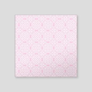 "Carnation & White Lace 2 Square Sticker 3"" x 3"""