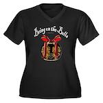 Bring On The Women's Plus Size V-Neck Dark T-Shirt