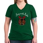 Bring On The Bells Women's V-Neck Dark T-Shirt