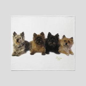 Cairn Terrier Friends Throw Blanket