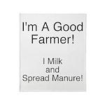 A Good Farmer Throw Blanket