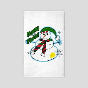 Dang Fido Snowman Area Rug
