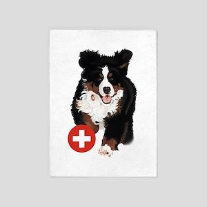 Liane Weyers Bernese Mountain Dog Artist 5'x7'Area