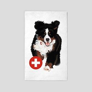 Liane Weyers Bernese Mountain Dog Artist Area Rug