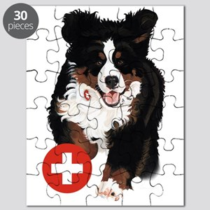 Liane Weyers Bernese Mountain Dog Artist Puzzle