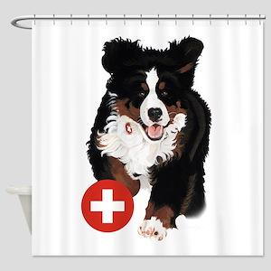 Liane Weyers Bernese Mountain Dog Artist Shower Cu
