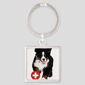 Liane Weyers Bernese Mountain Dog Artist Keychains