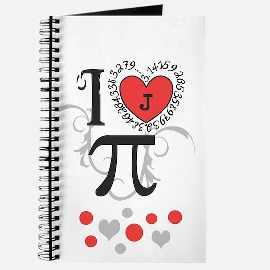 Custom Monogram Pi Journal