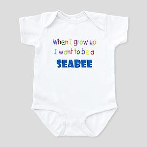When I grow up-Seabee Infant Bodysuit